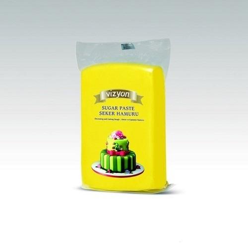 Сахарная мастика Polen Vizyon желтая 0,5 кг