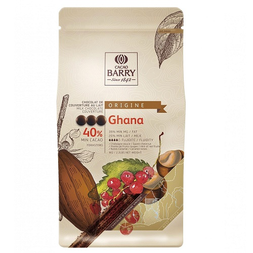 CACAO BARRY GHANA 40% шоколад молочный 1 кг