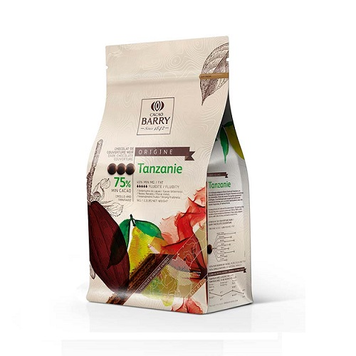 CACAO BARRY TANZANIE 75% шоколад темный 1 кг