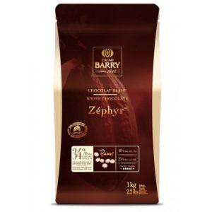 CACAO BARRY ZEPHYR 34% шоколад белый 1 кг