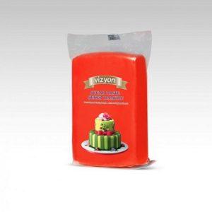 Сахарная мастика Polen Vizyon красная, 1 кг.