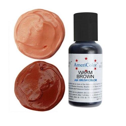 Краситель пищевой AmeriColor Warm Brown (Теплый коричневый) 21 гр