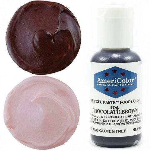 Краситель пищевой AmeriColor Chocolate Brown (Шоколадный) 21 гр