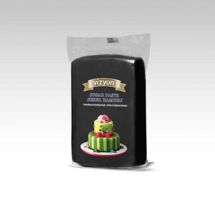 Сахарная мастика Polen Vizyon черная 0,5 кг