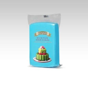 Сахарная мастика Polen Vizyon голубая, 1кг.