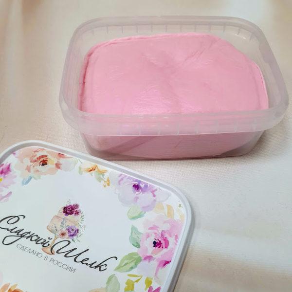 Купить мастику недорого Сладкий шелк светло-розовая 1 кг