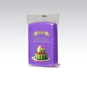 Сахарная мастика Polen Vizyon фиолетовая, 1 кг.