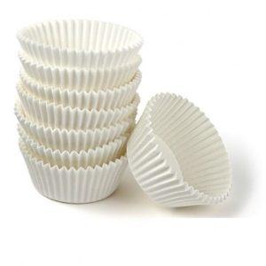 Капсула бумажная купить для конфет белые 30 мм. х 24 мм. 50шт