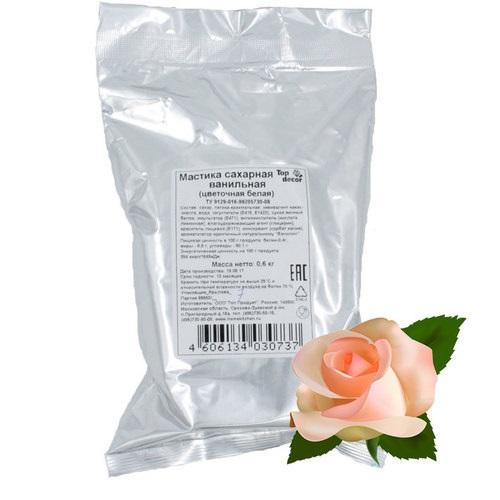 Мастика цветочная Топ Продукт белая 0,6кг