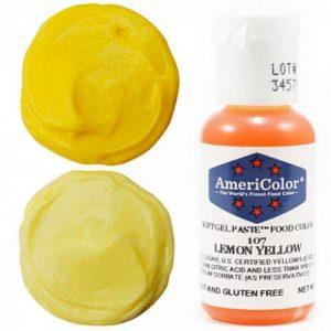 Краситель пищевой AmeriColor Lemon Yellow (Лимонно-желтый) 21 гр