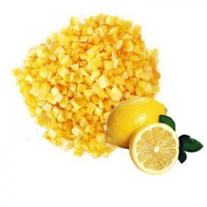Лимон с цедрой сублимированный кусочки 1-5мм 50 г
