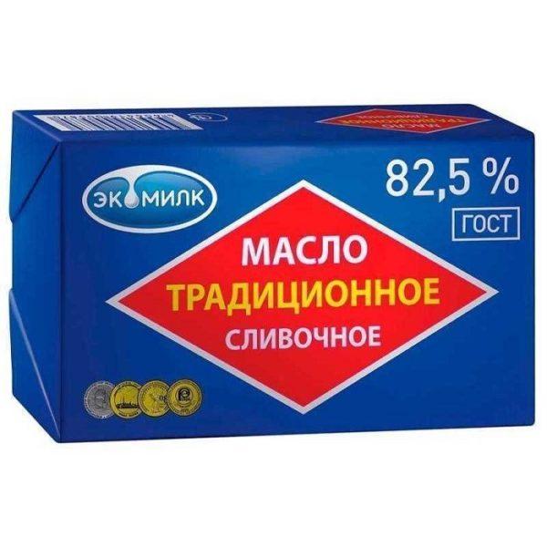 Масло сливочное Экомилк традиционное 82.5%