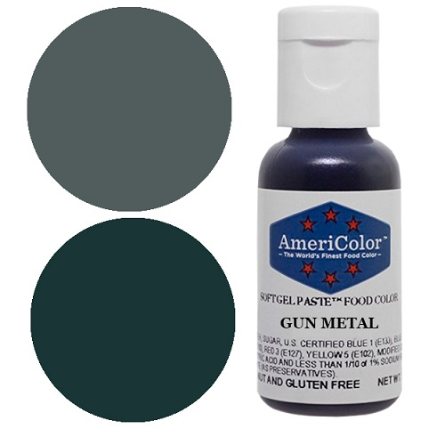 Краситель пищевой AmeriColor Gun metall (Серый металл) 21гр