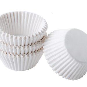 Бумажные тарталетки белые 40 мм. х 25 мм. 50 шт