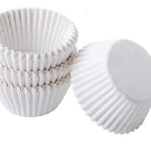 Бумажные капсулы для капкейков белая 45 мм. х 27.5 мм. 50 шт