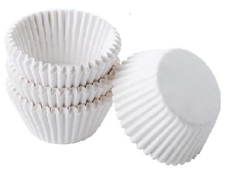 Тарталетки бумажные белые 50х25 50 шт