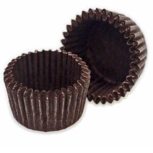 Капсулы бумажные для пирожных коричневые 50 мм. х 30 мм. 50 шт