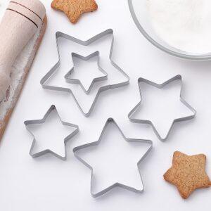 Набор вырубок для печенья Снежинка 5 шт.