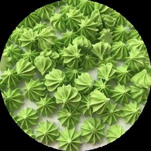 Мини-безе зеленые 50 гр.