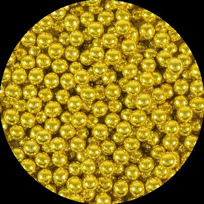 Шарики Золото 6 мм 70 гр