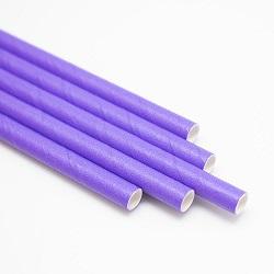 Трубочки бумажные для коктейля фиолетовые 25 шт