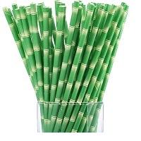 Трубочки бумажные для коктейля бамбук 25 шт