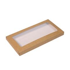 Упаковка для шоколада с окном Крафт 17х8х1,4 см