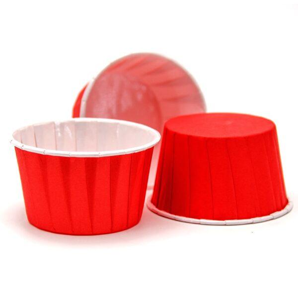 Форма бумажная МАФФИН 50х40, цвет Красный, 50 шт.