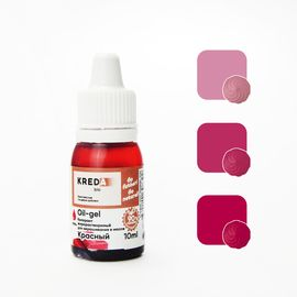 Краситель жирорастворимый Kreda Oil-gel Красный 10 гр