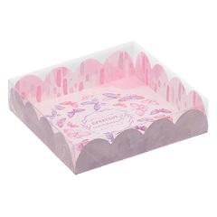 Коробка для кондитерских изделий «Приятных моментов», 18×18×3 см
