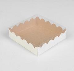 Упаковка для пряников Крафт 12х12х3 см