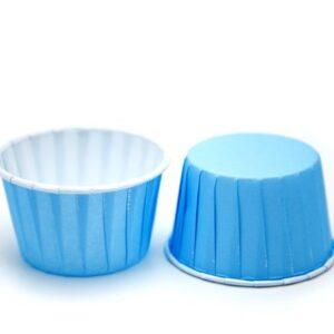 Форма бумажная МАФФИН 50х40, цвет Синий, 50 шт.