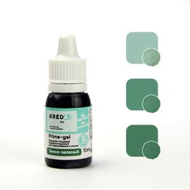 Краситель пищевой водорастворимый Prime-gel Темно-зеленый 10 мл