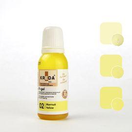 Краситель жирорастворимый Kreda F-gel желтый 20 гр