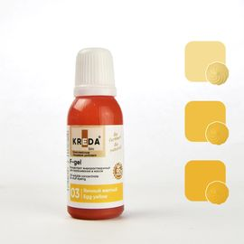 Краситель жирорастворимый Kreda F-gel Яично-желтый 20 гр