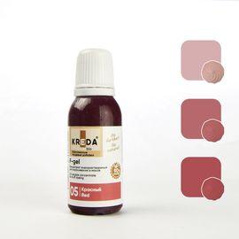 Краситель жирорастворимый Kreda F-gel Красный 20 гр