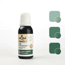 Краситель жирорастворимый Kreda F-gel темно-зеленый 20 гр