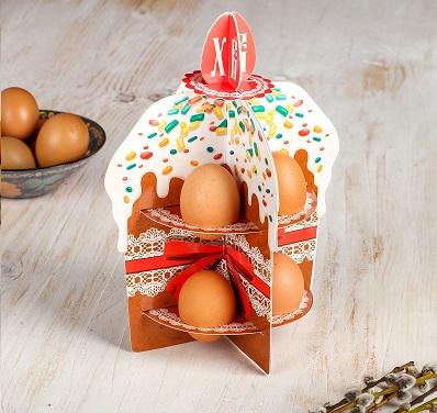 Подставка пасхальная на 8 яиц «Кулич»