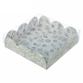 Коробка для кондитерских изделий «Вкусности» 10,5 × 10,5 × 3 см