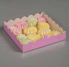 Коробочка для печенья, сиреневая, 12 х 12 х 3 см