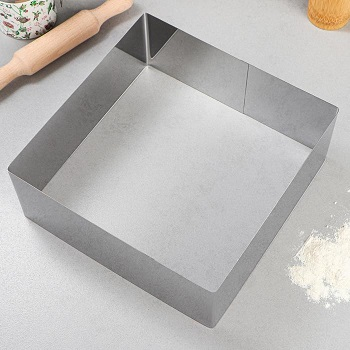 Квадратная форма для выпечки без дна 32 х 32 х 10 см.
