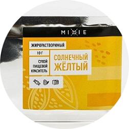 Краситель сухой жирорастворимый MIXIE Солнечный жёлтый 10 гр