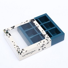 Коробка на 9 конфет с окном Хорошего дня 14.5 х 14.5 х 3.5 см