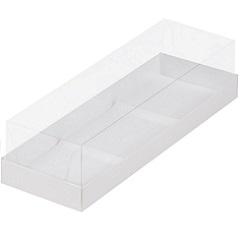 Коробка для муссовых пирожных Белая 3 шт 29х9.5х7 см