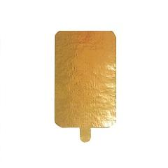 Подложка с держателем золото 10х6.5 см 0.8 мм