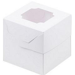 Коробка для 1 капкейка белая
