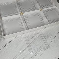 Подложка для пирожных пластиковая квадратная 7.2х7.2 см