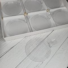 Подложка для пирожных пластиковая круглая 7.5 см