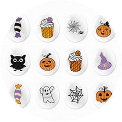 Сахарные фигурки Медальоны-мини Хеллоуин 15 шт