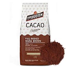 Какао-порошок Van Houten warm brown 200 гр